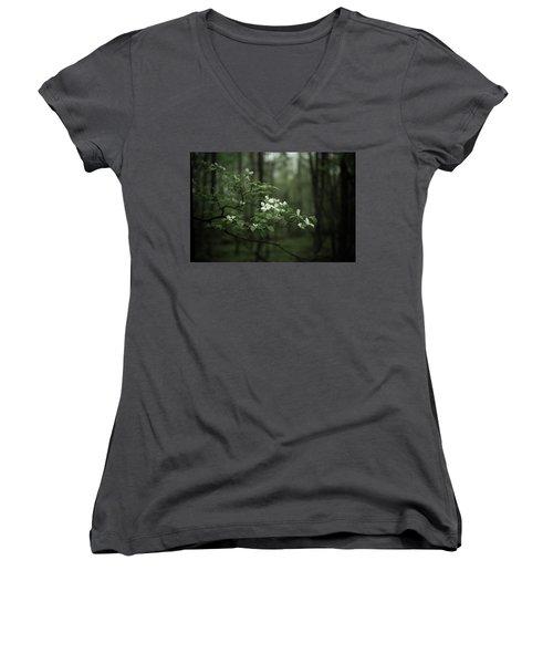 Dogwood Branch Women's V-Neck T-Shirt