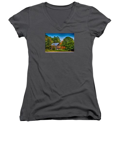 Done With Summer Women's V-Neck T-Shirt (Junior Cut) by Tricia Marchlik