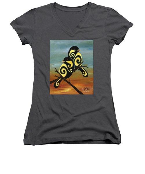 Don't Keep Your Music Inside II Women's V-Neck T-Shirt