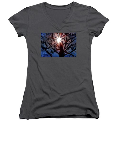 Don't Lose Sight Of It All Women's V-Neck T-Shirt (Junior Cut) by Karen Wiles