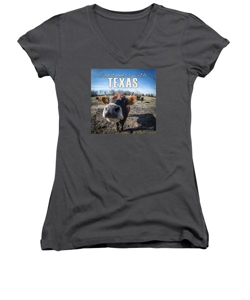 Don't Mess With Texas Women's V-Neck (Athletic Fit)