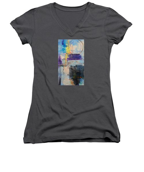 Don't Resist Women's V-Neck T-Shirt (Junior Cut) by Becky Chappell