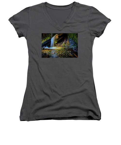 Donut Falls Women's V-Neck (Athletic Fit)