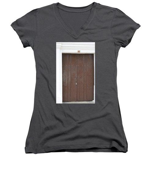 Door # 3  Women's V-Neck T-Shirt