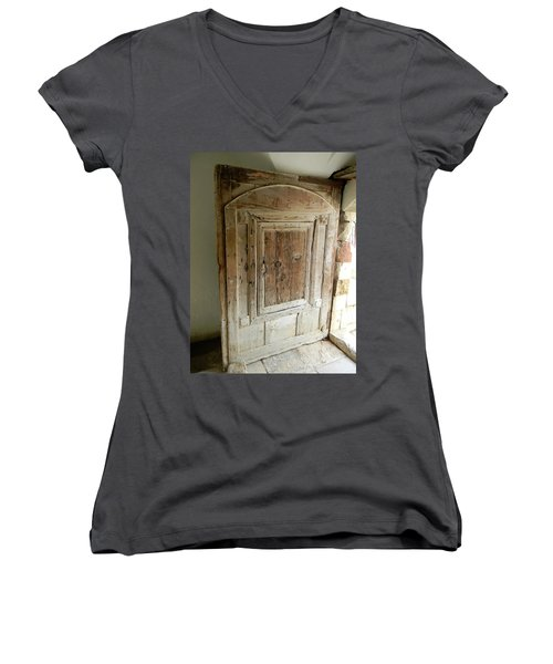 Door To Feudal Times Women's V-Neck