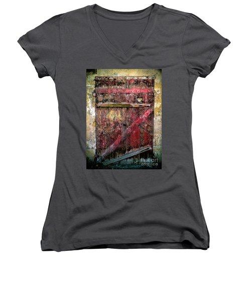 Door To My Heart Women's V-Neck T-Shirt (Junior Cut) by Karen Lewis
