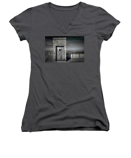 Door To Nowhere Women's V-Neck (Athletic Fit)