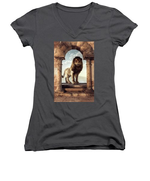 Door To The Lion's Kingdom Women's V-Neck (Athletic Fit)