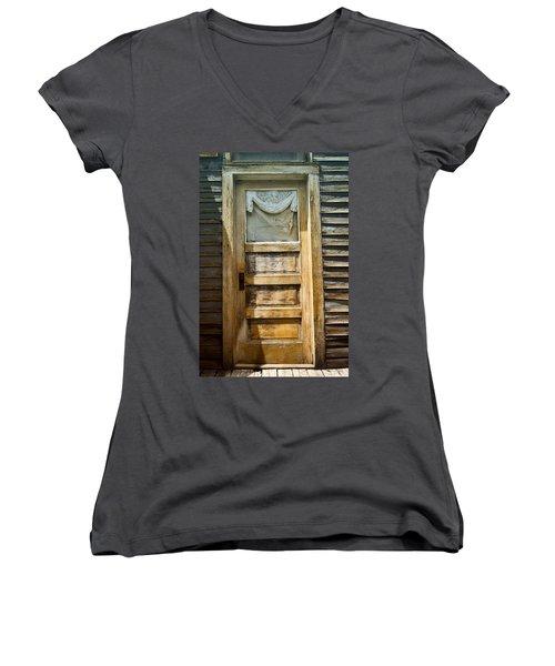 Doors Of St Elmo I Women's V-Neck T-Shirt (Junior Cut) by Ellen Heaverlo