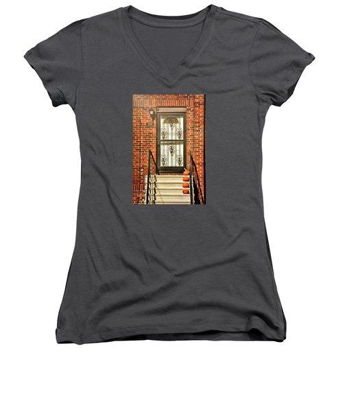 Doorstep Decor Women's V-Neck T-Shirt (Junior Cut) by JAMART Photography