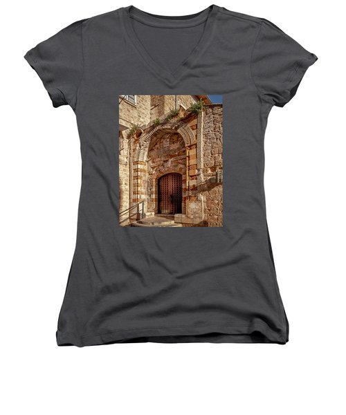 Doorway In Akko Women's V-Neck
