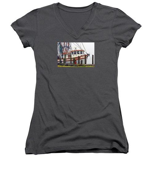 Dora F Women's V-Neck T-Shirt (Junior Cut) by Laura Ragland