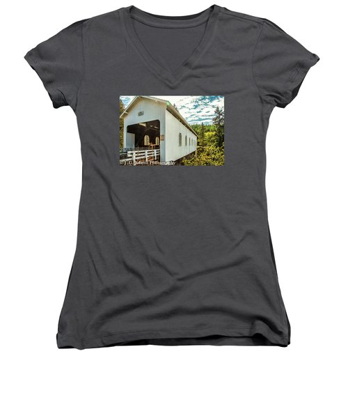 Dorena Covered Bridge Women's V-Neck