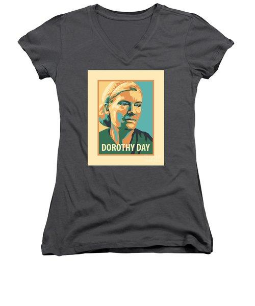 Dorothy Day, 1938 - Jldyd Women's V-Neck