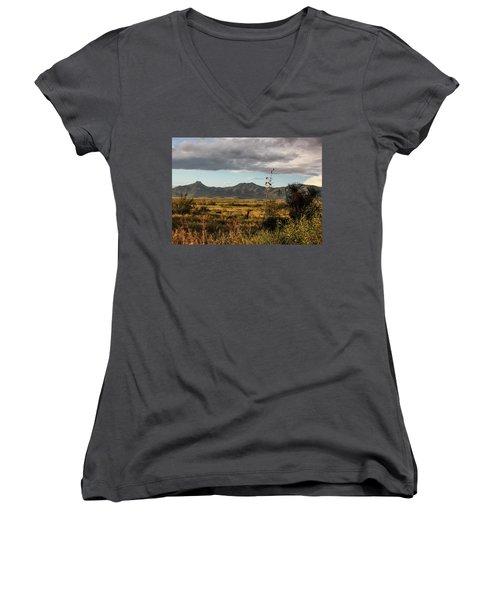 Dos Cabezas Grasslands At Dusk Women's V-Neck