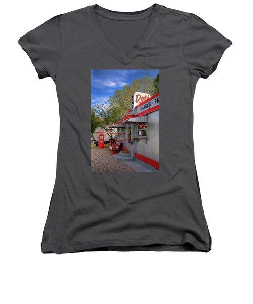 Dot's Diner In Bisbee Women's V-Neck T-Shirt