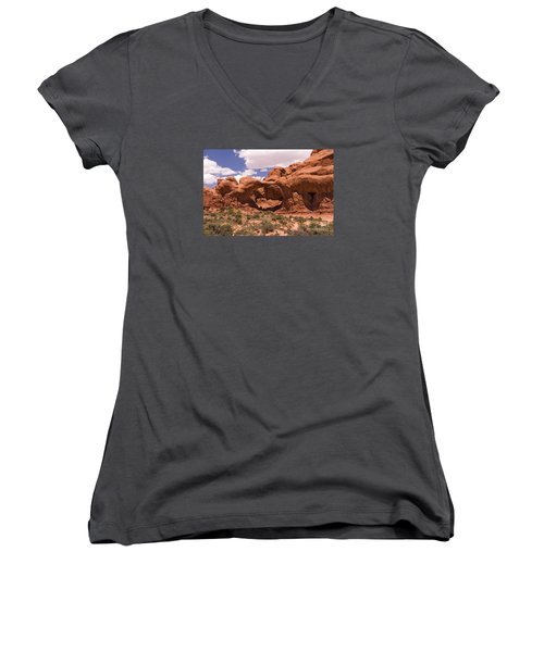Double Arch Cathedral Women's V-Neck T-Shirt