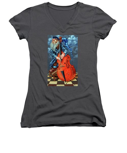 Double Bass And Bench Women's V-Neck (Athletic Fit)