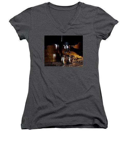 Double Shot Of Espresso 2 Women's V-Neck T-Shirt (Junior Cut)