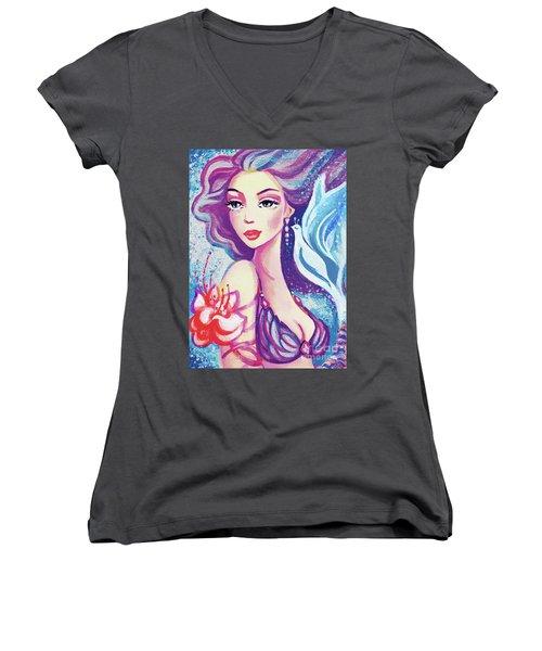 Dove Mermaid Women's V-Neck
