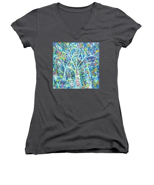 Doves In Trees Women's V-Neck