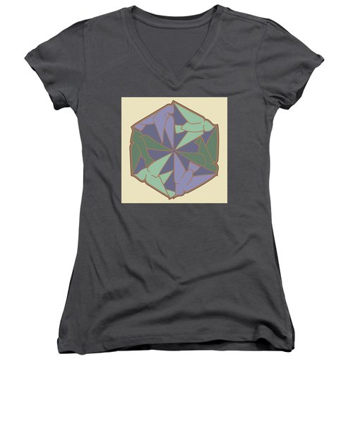 Doves Logo Color Women's V-Neck