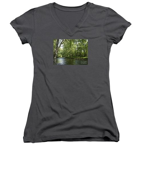 Down Beside Where The Waters Flow Women's V-Neck