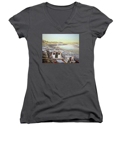 Down By The Docks Women's V-Neck T-Shirt