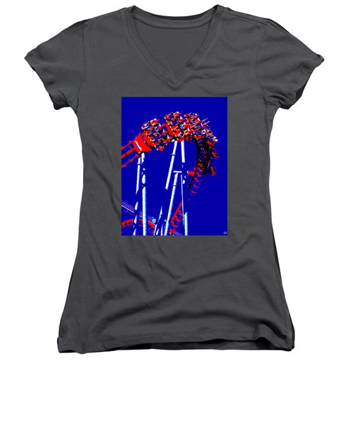 Down Side Up Women's V-Neck T-Shirt