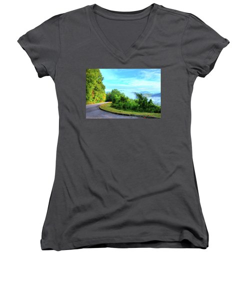 Down The Mountain Women's V-Neck