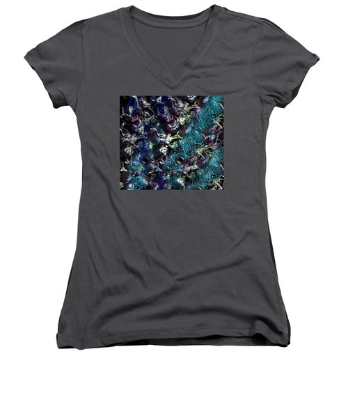 Women's V-Neck T-Shirt (Junior Cut) featuring the photograph Down The Rabbit Hole by Kathie Chicoine