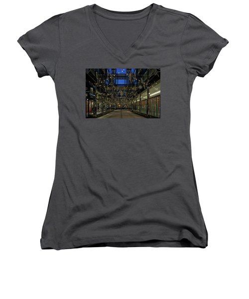 Downtown Christmas Decorations - Washington Women's V-Neck