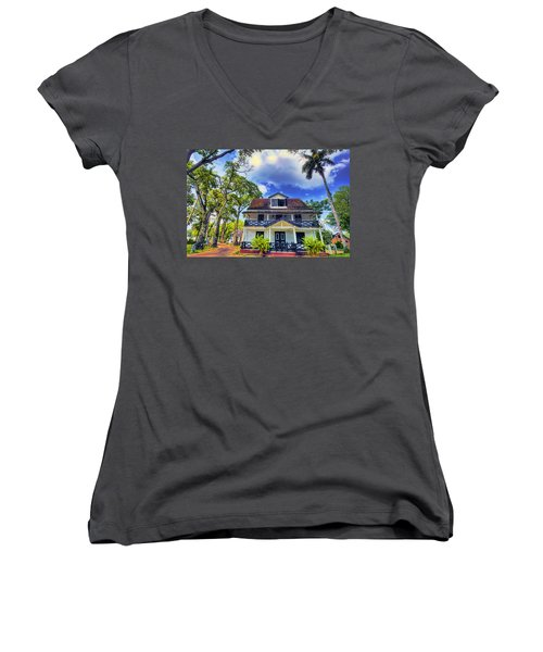 Downtown In The Tropics Women's V-Neck (Athletic Fit)