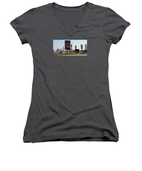 @downtown Los Angeles Women's V-Neck (Athletic Fit)