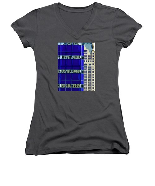 Downtown Mke Women's V-Neck T-Shirt