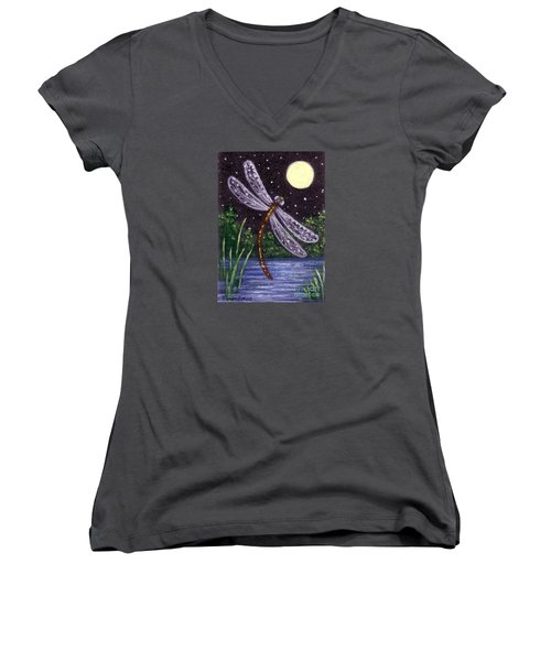 Dragonfly Dreaming Women's V-Neck T-Shirt