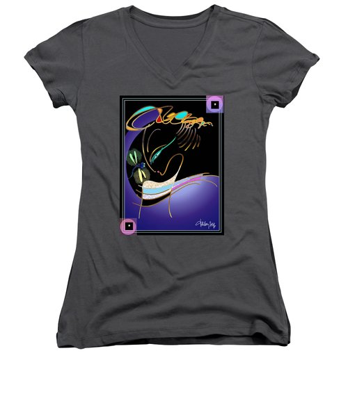 Dragonfly Messenger Women's V-Neck (Athletic Fit)