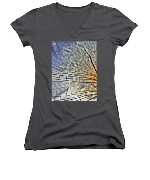 Dragonfly Wing Women's V-Neck