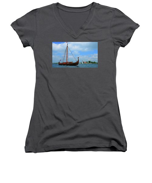 The Draken Passing Rock Island Women's V-Neck (Athletic Fit)