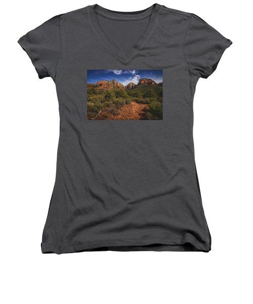 Dramatic Cloudscape Over Capitol Butte Women's V-Neck