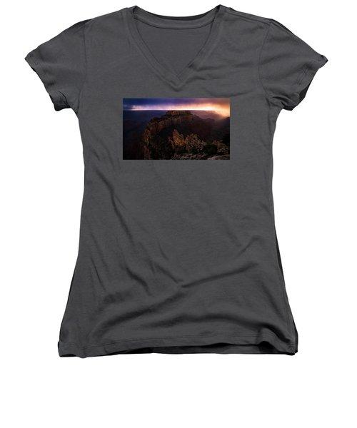 Dramatic Throne Women's V-Neck T-Shirt (Junior Cut) by Bjorn Burton