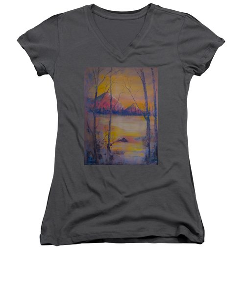 Dream Haze Women's V-Neck (Athletic Fit)