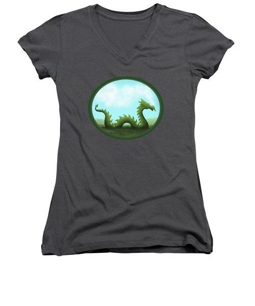 Dream Of A Dragon Women's V-Neck T-Shirt (Junior Cut)