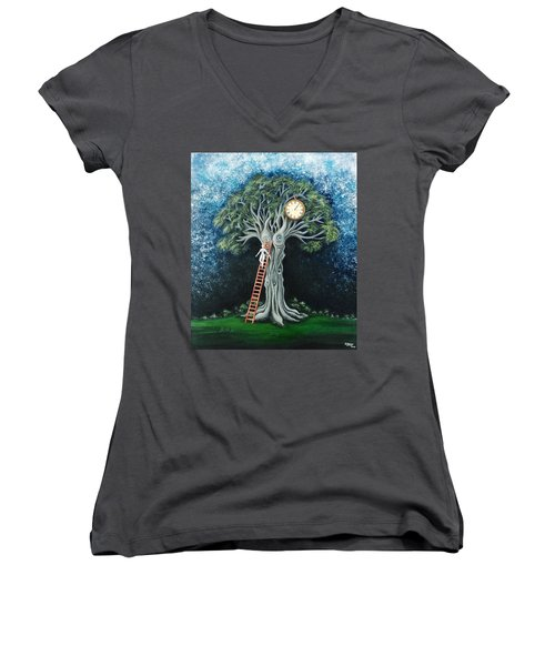 Dream Of The Clock Women's V-Neck (Athletic Fit)