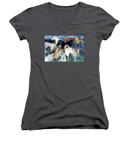 Dream Of Wild Horses Women's V-Neck T-Shirt