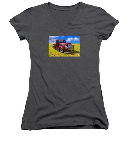 Dream Truck Women's V-Neck T-Shirt