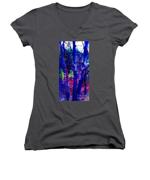 Dreaming Aspens Women's V-Neck T-Shirt (Junior Cut) by Jennifer Lake