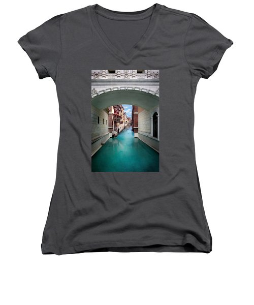 Dreaming Of Venice Women's V-Neck (Athletic Fit)