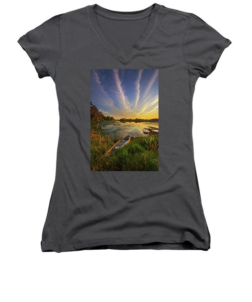 Dreams Of Dusk Women's V-Neck