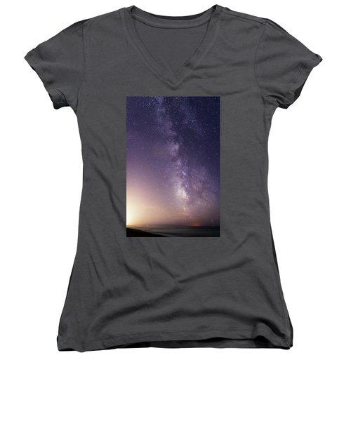 Dreamy Milky Way Women's V-Neck
